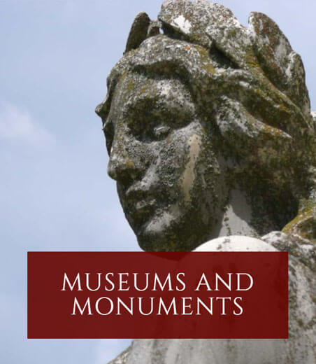Museums and monuments. Banner.