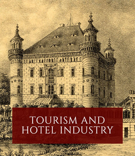 Tourism and hotel industry. Banner