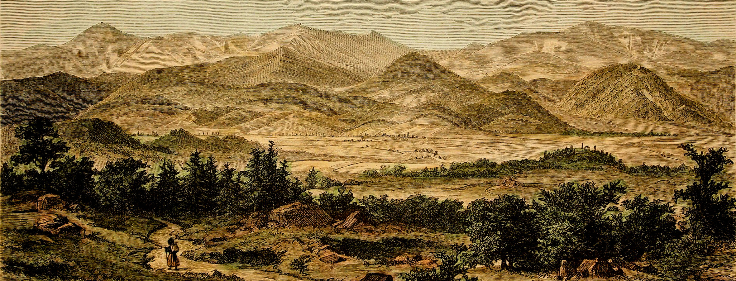 Panorama Karkonoszy XIX w. - Heubner