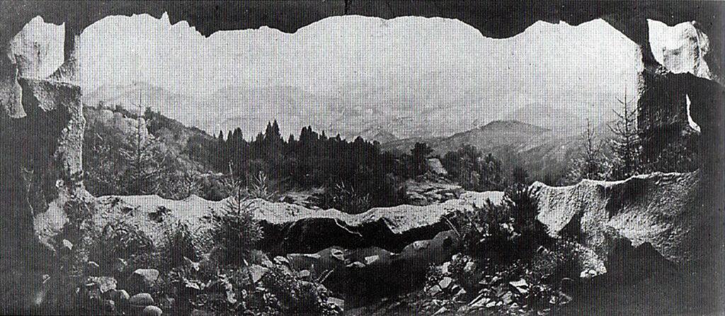 Panorama Karkonoszy 1881 autor Adolf Dressler